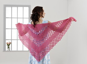 Florabelle Crochet Shawl Single Leaflet